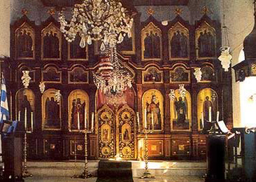 Interior of the  Church of St. George at El-Tor (ancient Raitho)