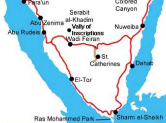 Map of the  Southern Sinai