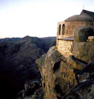 The Chapel at the  top of Mount Sinai
