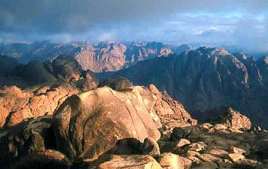 A view from the top of Mount Sinai