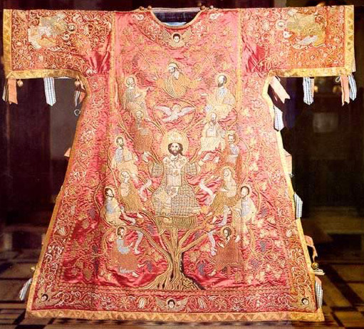 Archpriest's Chasuble (sakkos)- A part of the collection of artifacts belonging to the Monastery of St. Catherine