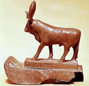 Statuette of a sacred bull from ancient Egypt