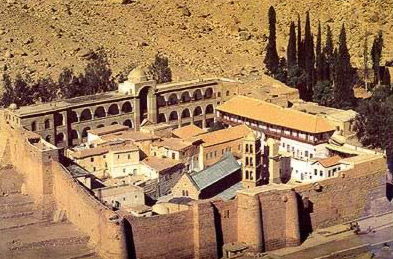 A view of St. Catherine's Monastery in the Sinai of Egypt