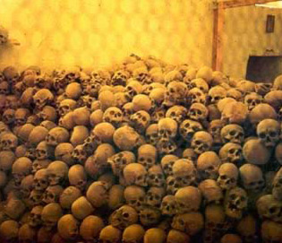 Skulls 1400 years of monks contained in the Charnel House