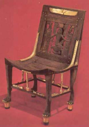 Chair with Carved Figure of the God Heh