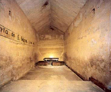 The upper chamber in the Pyramid of Khafre at Giza