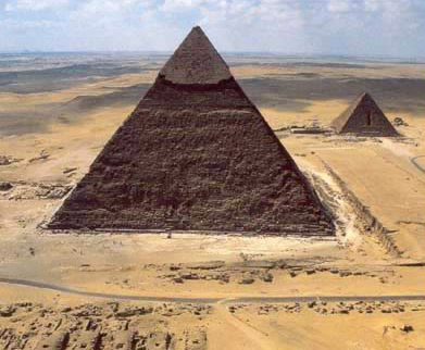 The Second Pyramid at Giza, built by Khafre