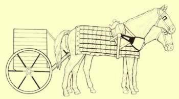 Hittite chariot, heavier  then the Egyptian chariots and intended to carry a crew of three