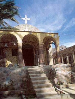 One of the churches of the Seven Girls Monastery at Wadi Feiran