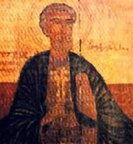 An icon of St. Peter the Apostle from the church; Below Right: A comb found in the church and now in the Coptic Museum