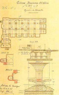 Drawing of a cistern dating to 1896.