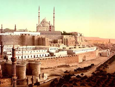 A painting of the citadel created shortly after the construction of the Muhammad Ali Mosque