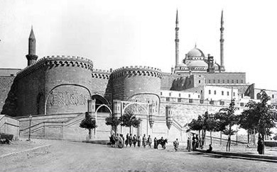 Bab el-Azab Between the Two Towers from an Early Photograph