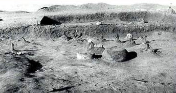 An Excavated area at   Maadi