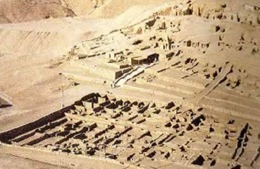 The ancient city of Deir el-Medina in Egypt