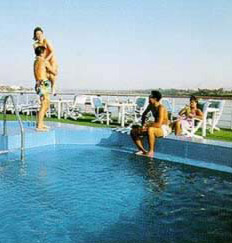 The Swimming Pool on one of the Movenpick Nile Cruise Boats