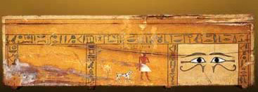 The Coffin of Sepi from the 12th Dynasty with eyes clearly visible