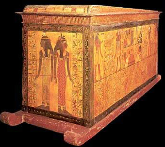 A sarcophagus with on runners from the 19th Dynasty