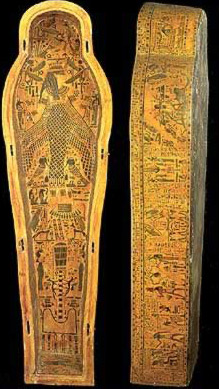 Anthropoid coffin of Paduamen, with inner board and lid