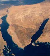 Satellite view of the Sinai
