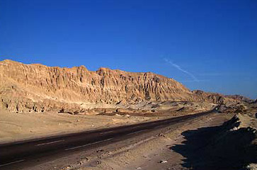 Road to the Colored Canyon in the Sinai