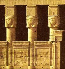 Hathor Columns at Dendera