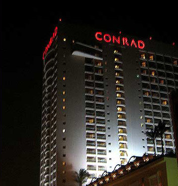 Exterior of the Conrad Cairo Hotel