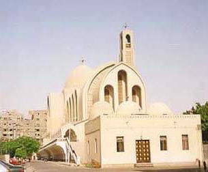 View of the St Marc's Coptic Orthodox cathedral in Abbasseya.