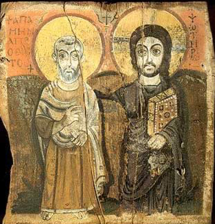 The Abbot Menas with Christ (right)