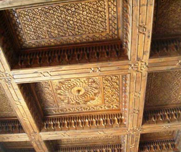 The ceiling within the Coptic Museum is a work of art in itself