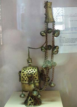 An Ethiopian Censer with a perforated base and dome made of bronze and dating to the 18th century