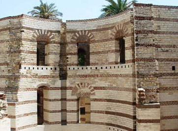 The walls of old Fort Babylon, inside of which is where the Coptic Museum is located in Cairo