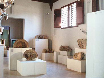 Some displays of stonework in the Museum