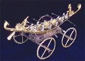 Barque upon a chariot