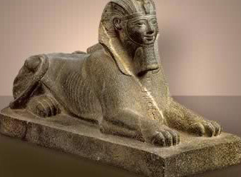 Granite Sphinx of Tuthmosis III found in the Karnak Cachette
