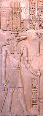 Sobek with the Atef Crown at Kom Ombo