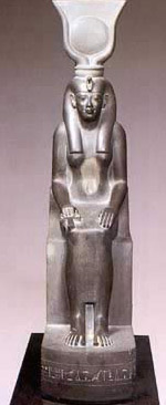 A typical cult statue, this one of Isis