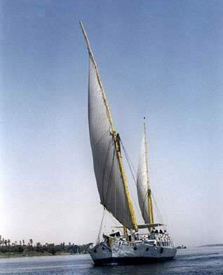 A view of the Royal Cleopatra, now sailing the way travelers did it a hundred years ago