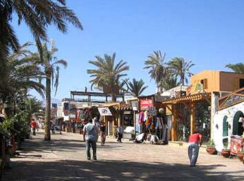 The Dahab Bazaar area where one of the explosions took place