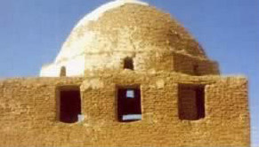 A dome in the pharaonic  village of Bashendi in the Dakhla Oasis