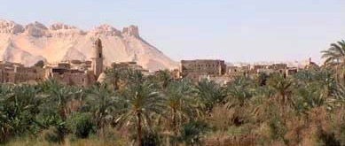 The town of El-Qasr (Al-Qasr) in the Dakhleh Oasis