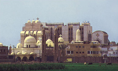 The modern convent of Damiana in the Nile Delta of Egypt