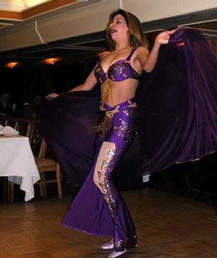 A modern belly dancer in Cairo