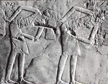 More of a frangment of a scene with dancers from the tomb of Kheruef at Thebes