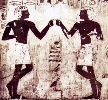 Detail of a dance scene from the tomb of Rekmire at Thebes