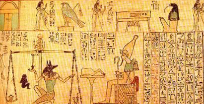 The Ancient Egyptian Soul being Weighed