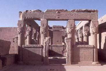Hathor's Kiosk on the roof of her temple