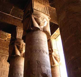 Hather capitals in the first Hypostyle Hall
