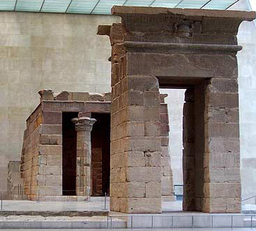 The Temple of Dendur today, now in the Metropolitan Museum of Art in New York