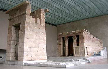A side view of the Temple of Dendur